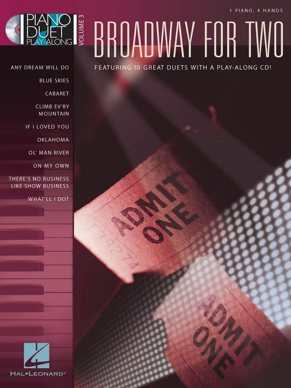 Broadway for two (+CD): piano duet playalong vol.3