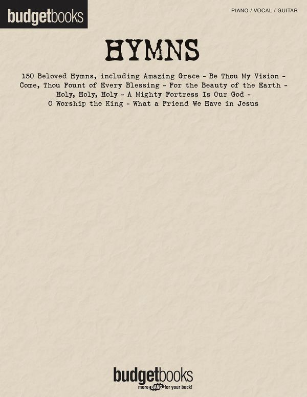 150 beloved Hymns: Songbook piano/vocal/guitar