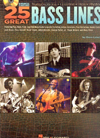 25 great Bass Lines (+CD): for bass/tab