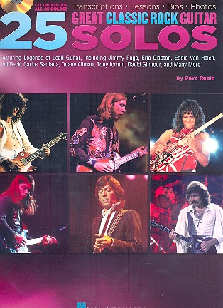 25 great classic Rock Guitar Solos (+CD): for guitar