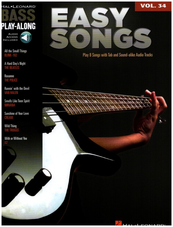 Easy Songs (+CD): bass playalong vol.34 songbook vocal/bass/tab