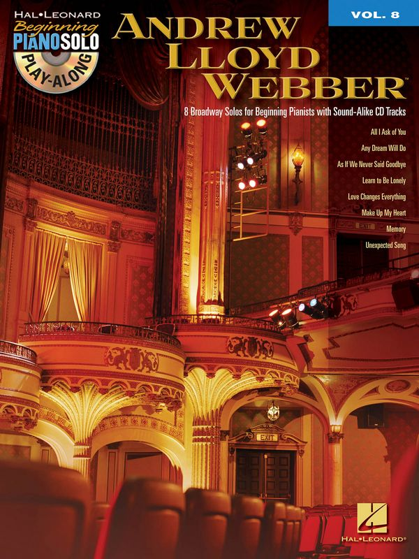 Andrew Lloyd Webber (+CD): for easy piano beginning piano solo playalong vol.8