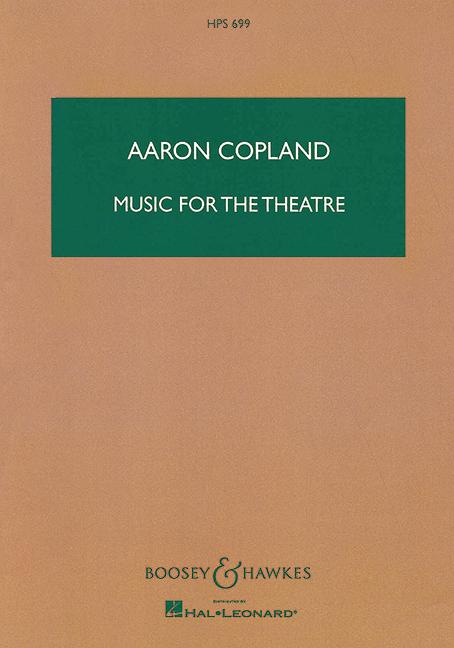 Music for the Theatre: für Orchester Studienpartitur