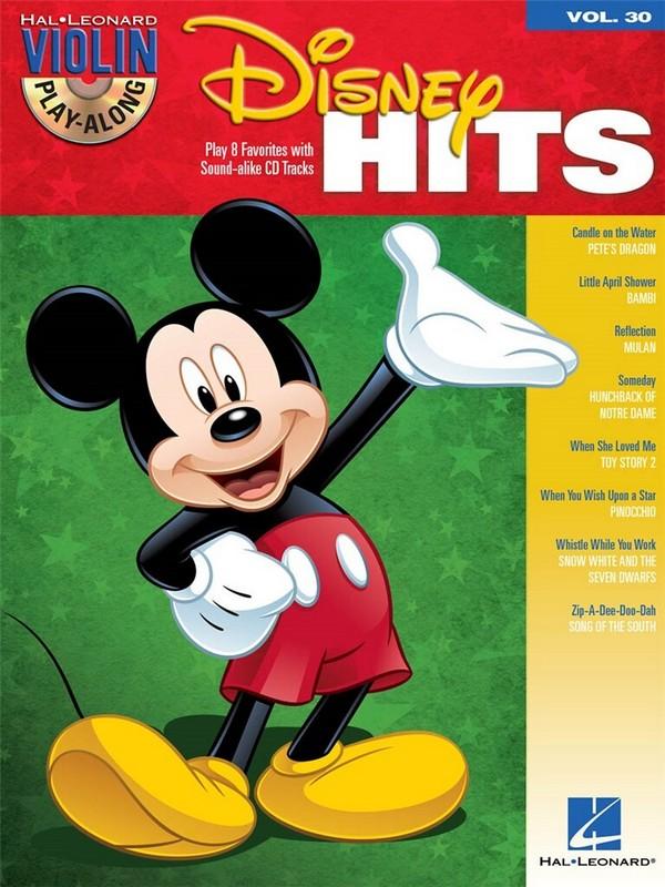 Disney Hits (+CD): for violin violin playalong vol.30