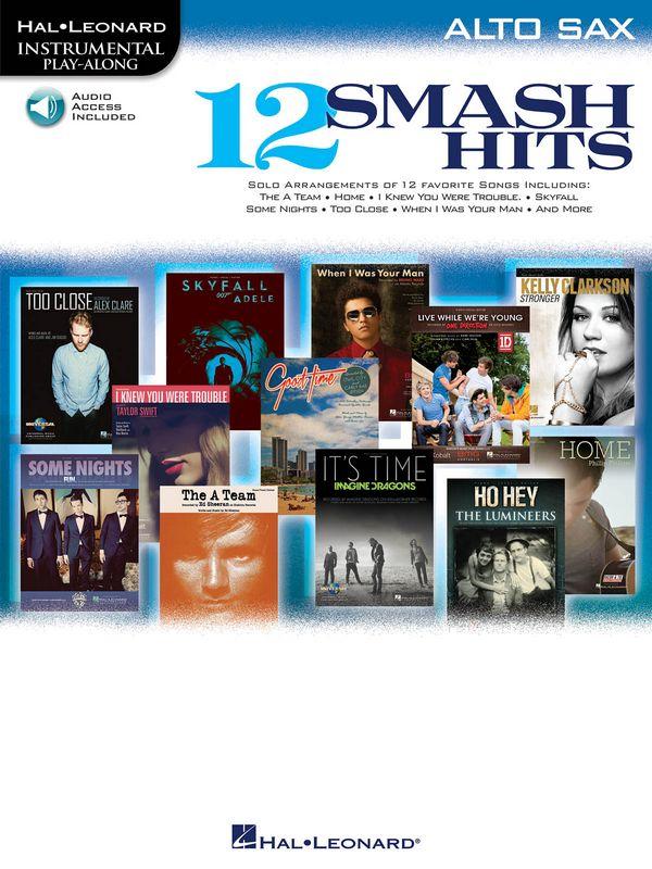 12 Smash Hits (+CD): for alto saxophone