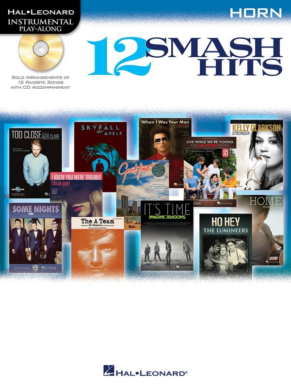 12 Smash Hits (+CD): for horn