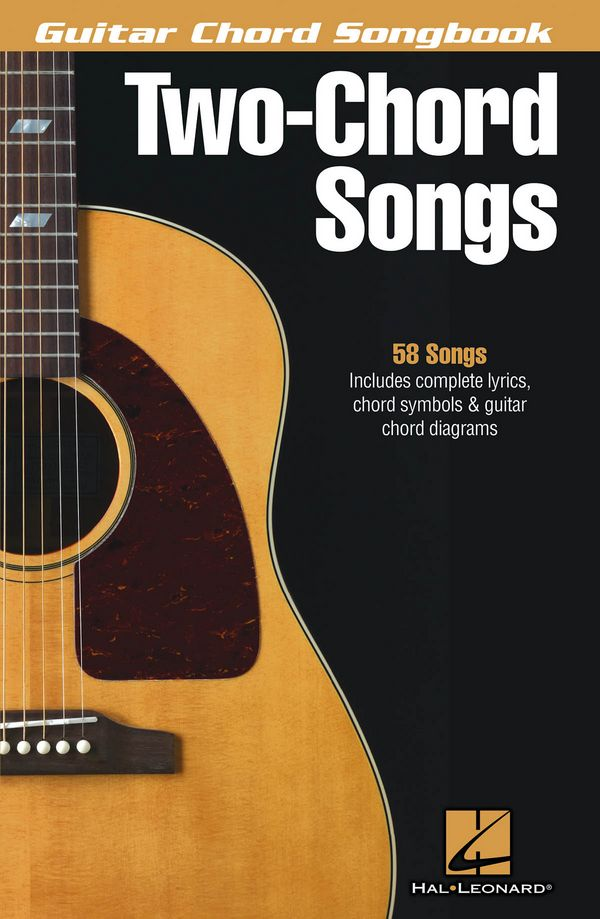 2-Chord-Songs: guitar chord songbook lyrics/chords/guitar boxes