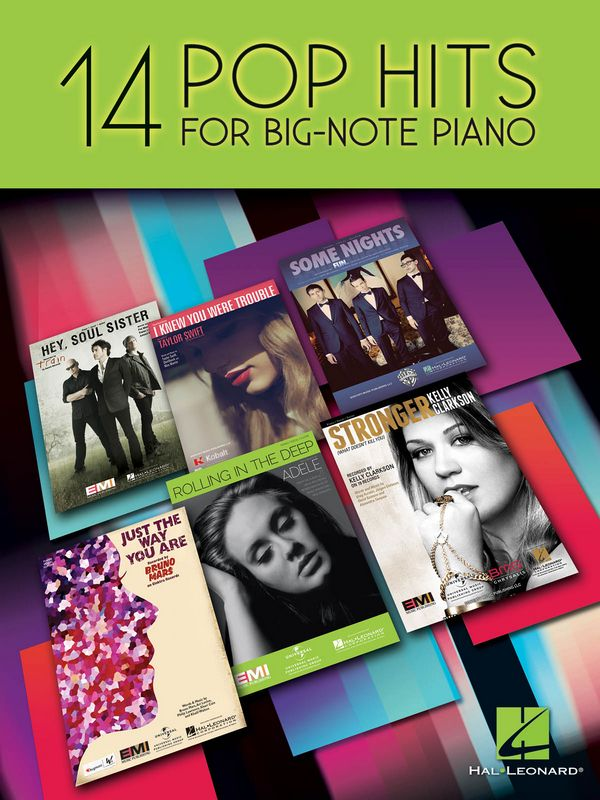 14 Pop Hits: for big note piano (with lyrics and chords)