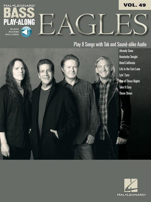 Eagles (+CD): bass playalong vol.49 songbook vocal/bass/tab