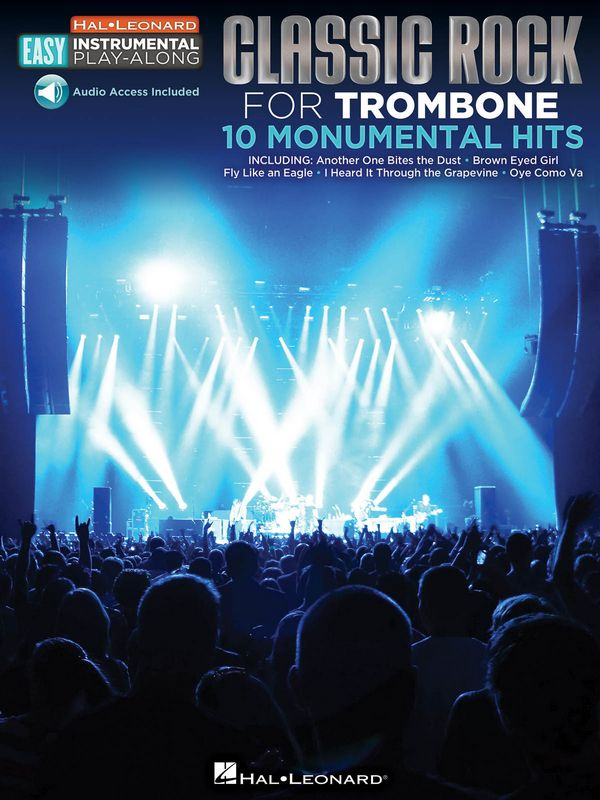 Classic Rock - 10 monumental Hits (+download): for easy trombone