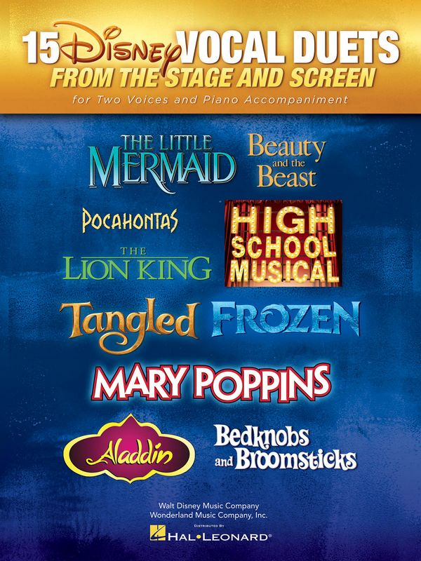 15 Disney Vocal Duets from the Stage and Screen: for 2 voices and piano