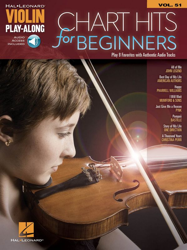 Chart Hits for Beginners (+audio access): for violin