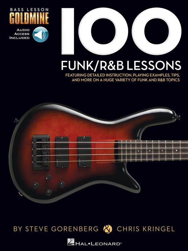 100 Funk/R&B Lessons (+audio access): for bass guitar/tab