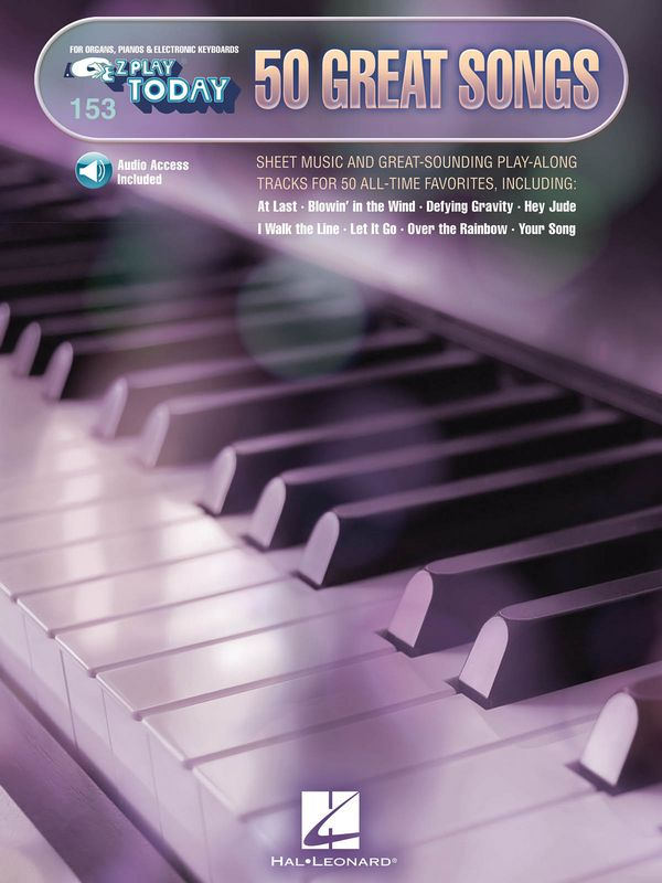 50 great Songs (+Online Audio Access): for keyboard (organ/piano)