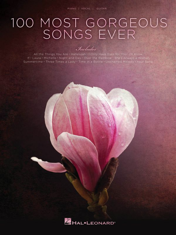 100 most georgeous Songs ever piano/vocal/guitar
