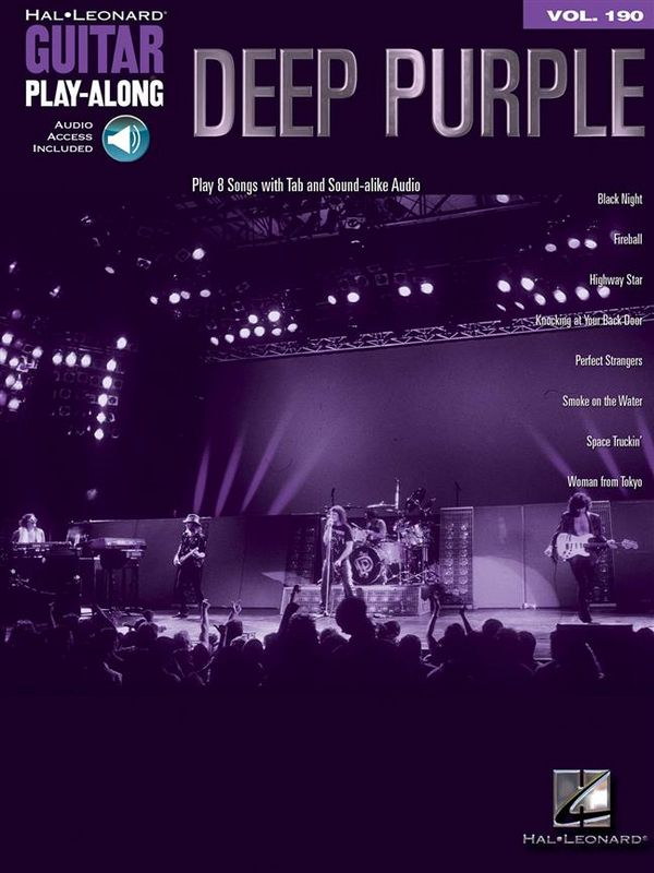Deep Purple (+with Audio Access): guitar playalong vol.190 songbook vocal/guitar/tab