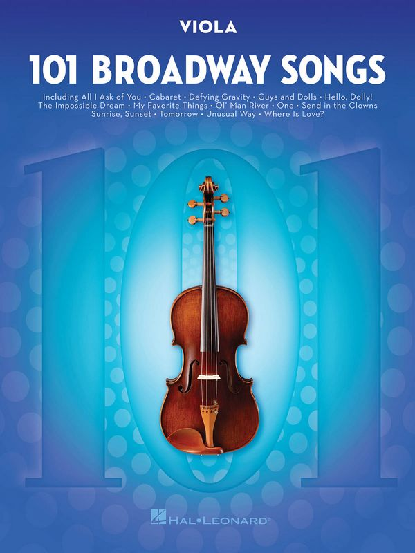 101 Broadway Songs: for viola