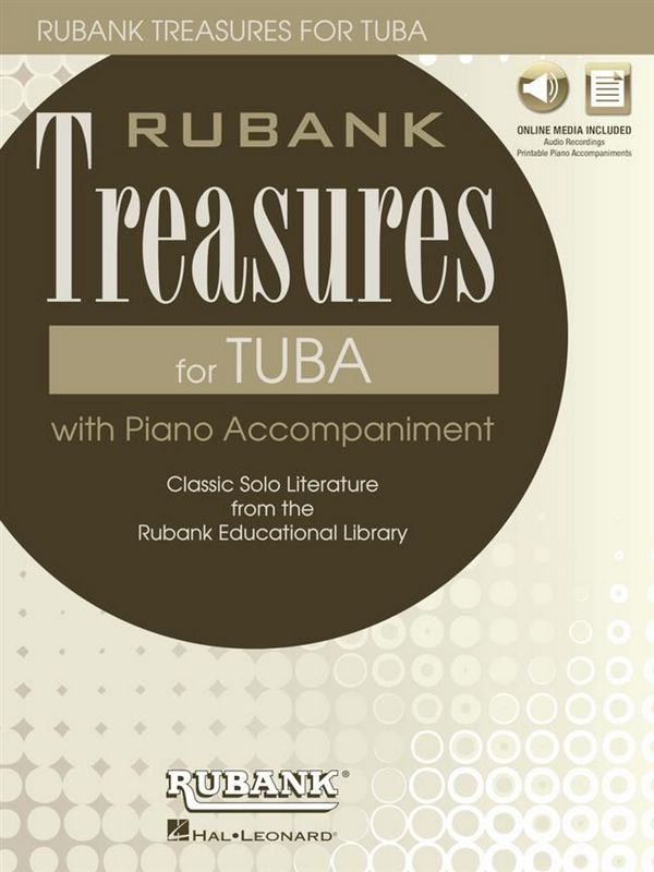 HL00196892 Treasures (+Online Audio): for tuba
