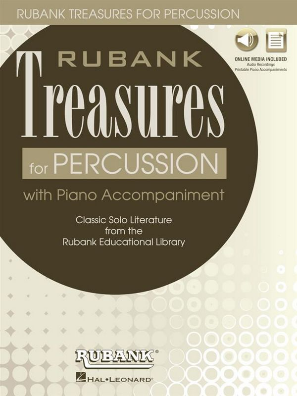 HL00196893 Rubank Treasures (+Online Audio): for percussion