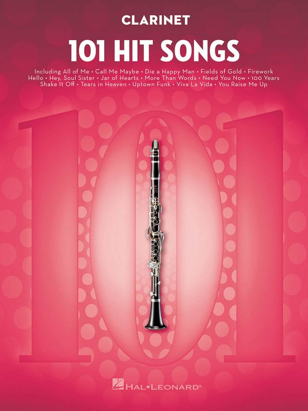 101 Hit Songs: for clarinet