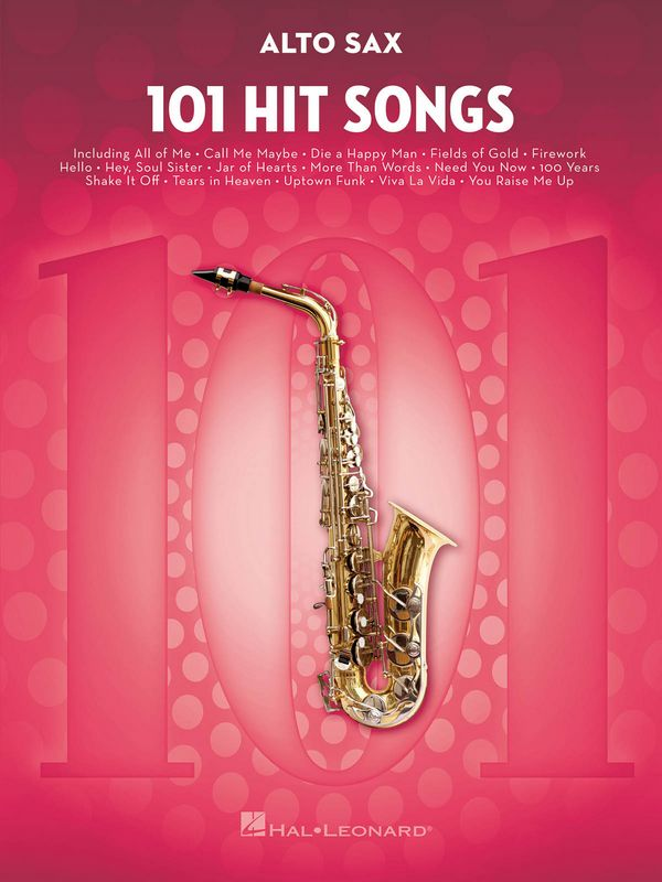 101 Hit Songs: for alto saxophone