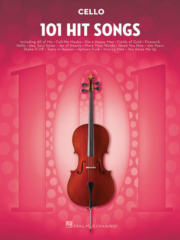 101 Hit Songs: for cello