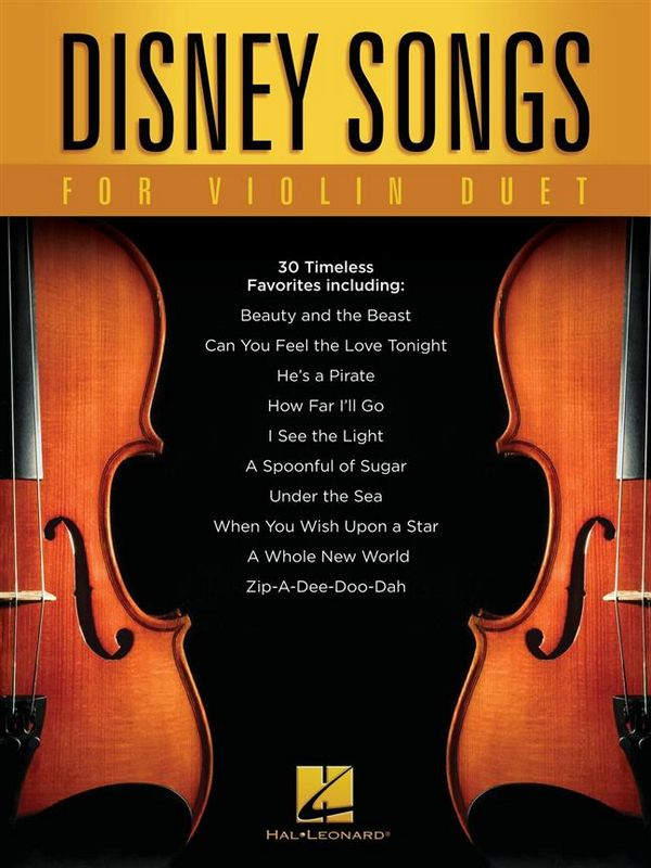 Disney Songs for Violin Duet: for 2 violins