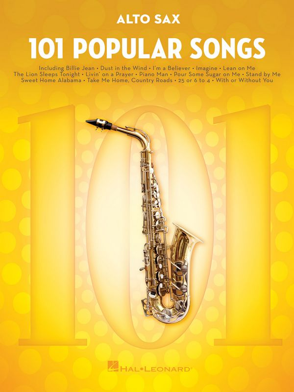 101 popular Songs: for alto saxophone