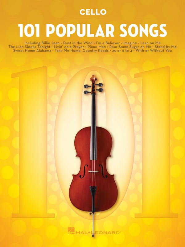 101 popular Songs: for cello