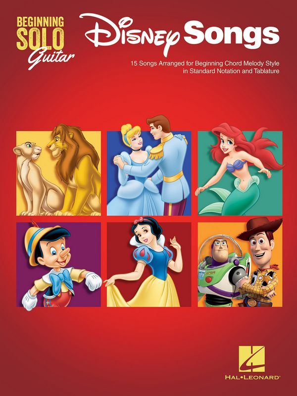 Disney Songs: for beginning guitar/tab (with lyrics and chords)