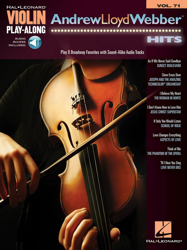 Andrew Lloyd Webber Hits (+Online Audio Access): for violin