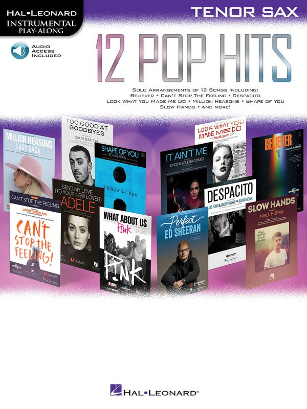 12 Pop Hits (+audio online): for tenor saxophone