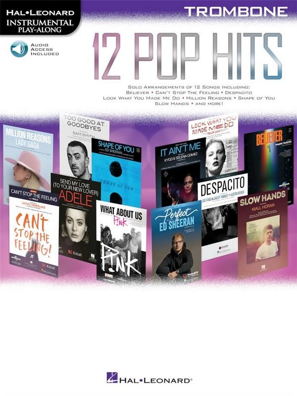 12 Pop Hits (+audio online): for trombone