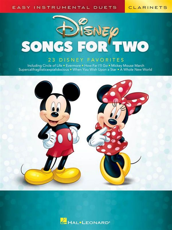 Disney Songs: for 2 clarinets