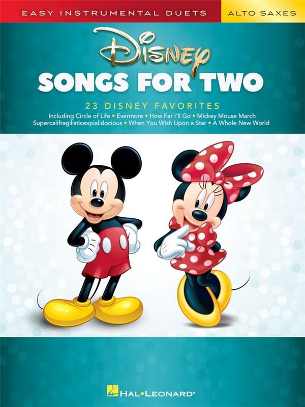 Disney Songs: for 2 alto saxophones