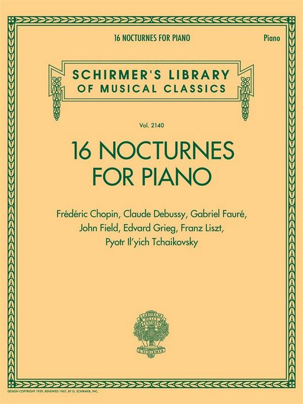 16 Nocturnes: for piano