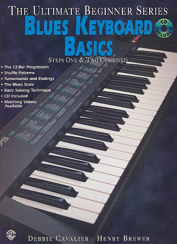 BLUES KEYBOARD BASICS STEPS 1 AND 2 COMBINED (+CD)