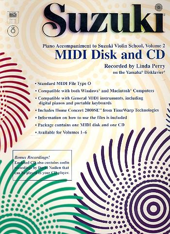 Suzuki Violin School vol.2: Midi-Disk + CD-ROM Piano Accompaniment