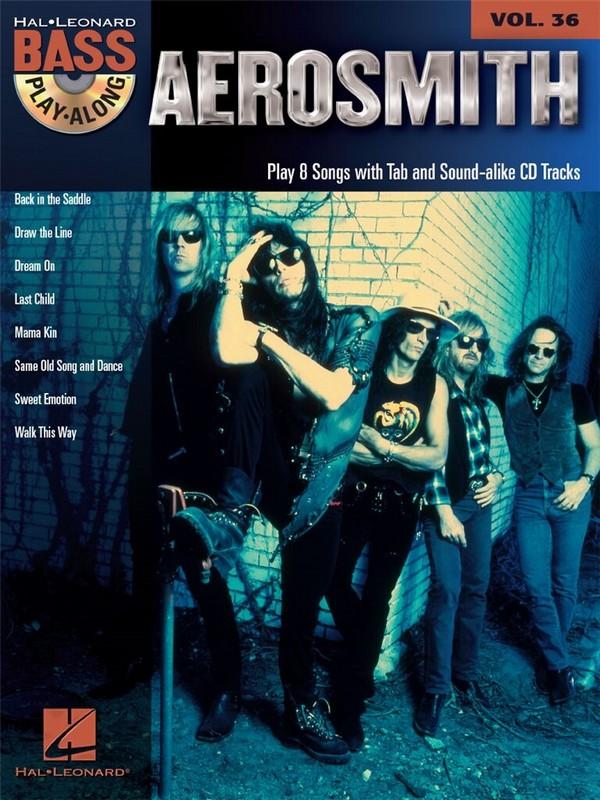 Aerosmith (+CD): bass playalong vol.36 songbook vocal/bass/tab