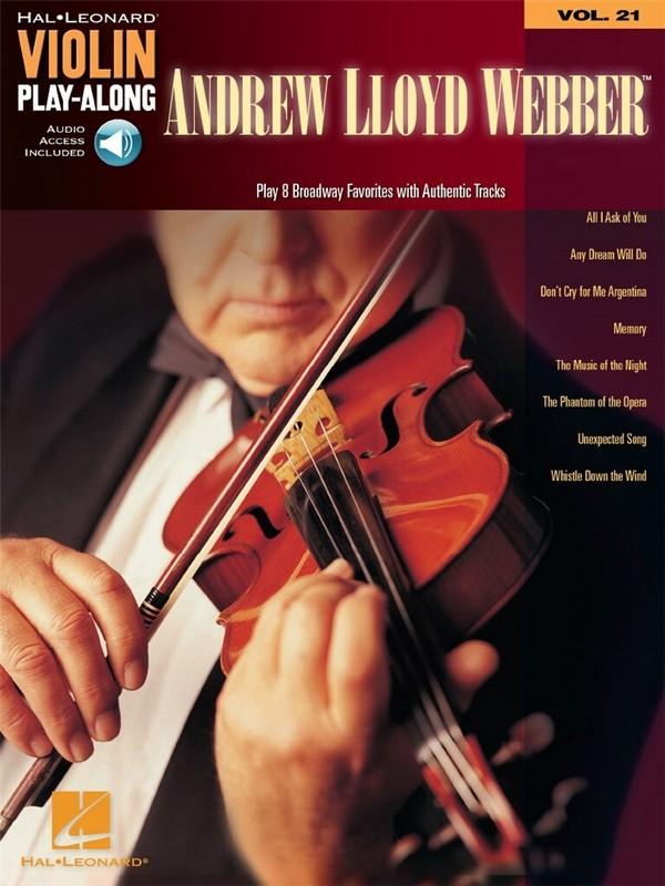 Andrew Lloyd Webber (+CD): for violin violin playalong vol.21