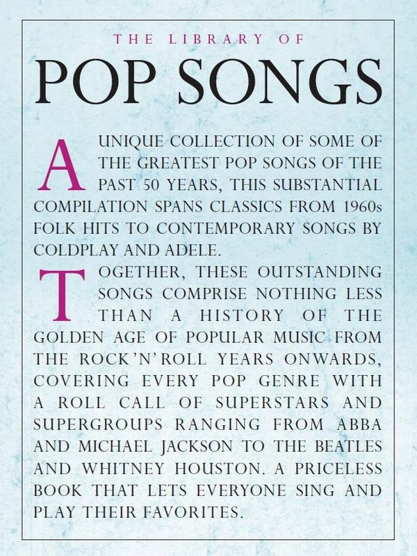 - The Library of Pop Songs :