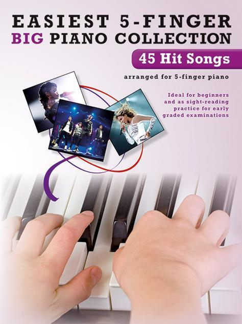 45 Hit Songs: for 5-finger piano (with text)