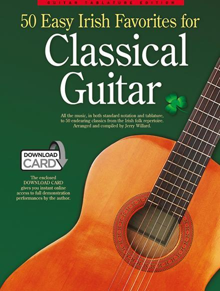 50 easy irish Favourites (+Download card): for classical guitar/tab