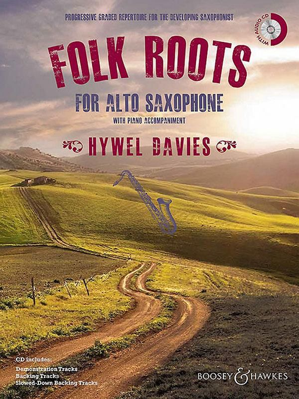 Folk Roots (+CD): for alto saxophone and piano