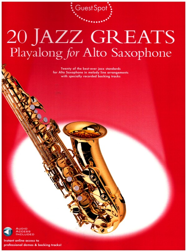 20 Jazz Greats (+Download Card): for alto saxophone