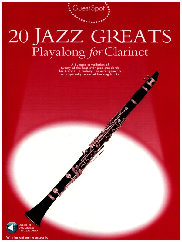 20 Jazz Greats (+Download Card): for clarinet