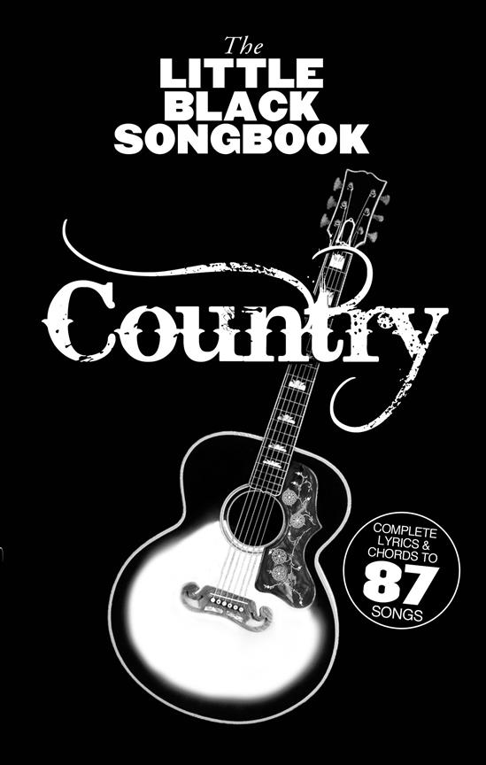 Country: The little black songbook lyrics/chords/guitar boxes