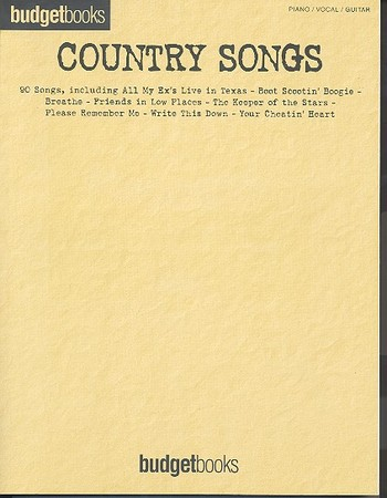 Country Songs: Songbook piano/vocal/guitar