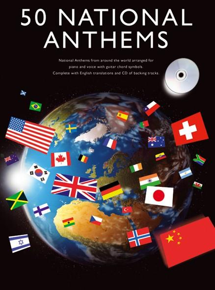 50 national Anthems (+CD) Songbook piano/vocal/guitar