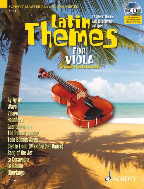 Latin Themes (+CD): für Viola (Klavierbegleitung als PDF zum Ausdrucken)